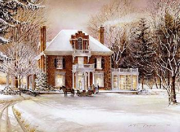 Trisha Romance Winter Fantasy Giclee on Canvas