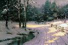 Thomas Kinkade Winter Glen