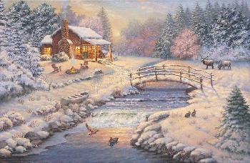 Thomas Kinkade Winter Retreat Artist