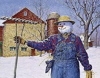 Ned Young Winter Scarecrow