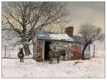 Peter Sculthorpe Winter Shelter Giclee on Paper