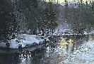 Robert Bateman Winter Sunset Moose