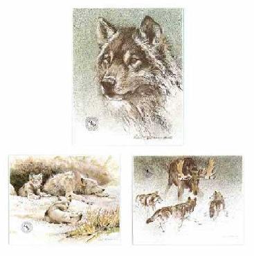 Robert Bateman Wolf Set Predator Portfolio