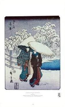 Hiroshige Women in the Snow at Fujisawa