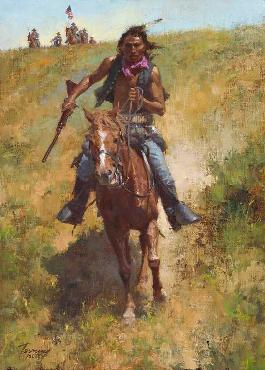 Howard Terpning Working for the Government Giclee on Canvas
