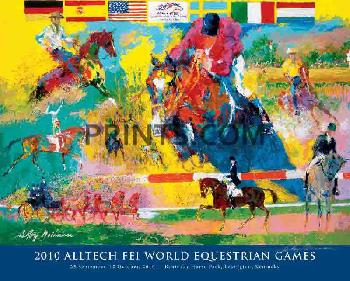 LeRoy Neiman World Equestrian Games Hand Signed by LeRoy Neiman