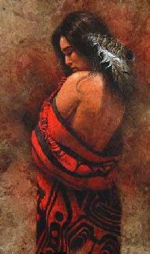 Lee Bogle Wrapped in Red I Giclee on Canvas
