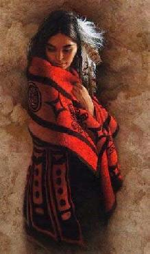 Lee Bogle Wrapped in Red II Giclee on Paper