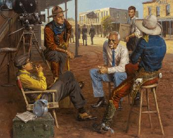 Andy Thomas Wyatt Earp in Hollywood Giclee on Canvas