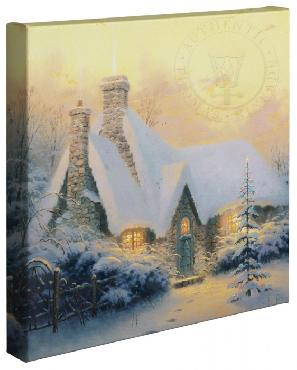 Thomas Kinkade Christmas Tree Cottage Open Edition Wrapped Canvas