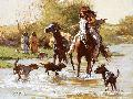 Howard Terpning Yapping Dogs