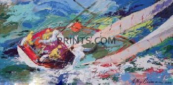 LeRoy Neiman Yawl Sailing Hand Pulled Serigraph