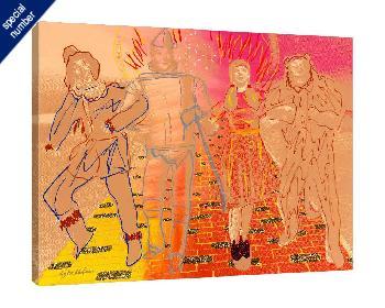 Steve Kaufman Yellow Brick Road Print #1/50 Giclee on Canvas