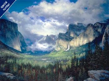 Larry Dyke Yosemite Valley Print #1/95 Giclee on Canvas
