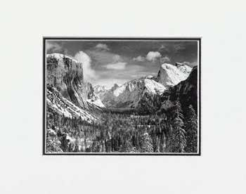 Ansel Adams Yosemite Valley from Inspiration SM Matted