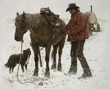 James Bama Young Sheepherder