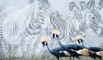 Rod Frederick Zebra Mirage Giclee on Paper
