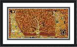 Gustav Klimt Tree Of Life Red Variation