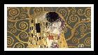 Gustav Klimt Kiss, Detail (grey Variation)