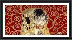 Gustav Klimt Kiss, Detail (red Variation)