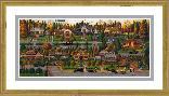 Charles Wysocki Labor Day in Bungalowville