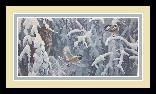 Robert Bateman Scolding Chickadees and Screech Owl